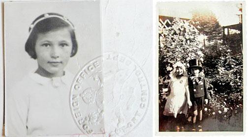 Pass von Margot Fajgman und Hans Naftali und Margot Fajgman in Bochum