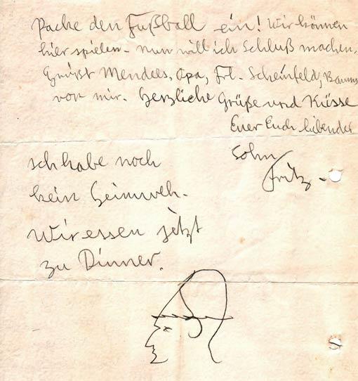 Brief von Fritz Penas